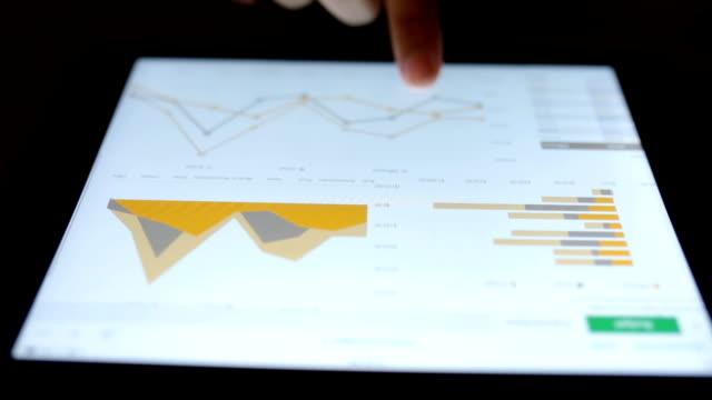 vídeos de stock, filmes e b-roll de mulher usar tablet para negócios - big data