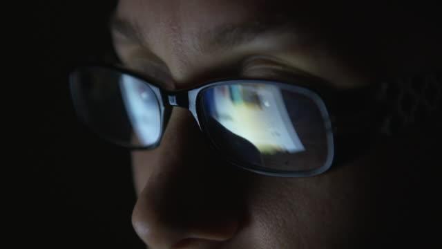 4K: Woman using a digital tablet video