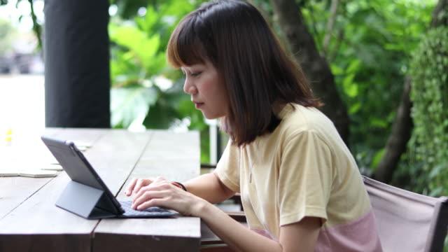 Woman using Laptop video