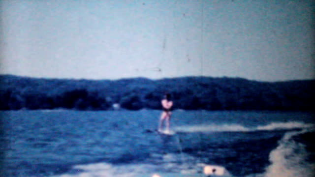 Woman Water Skiing On Lake-1962 Vintage 8mm film video