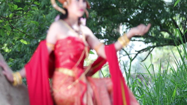 woman wearing typical thai dress and identity culture of thailand video