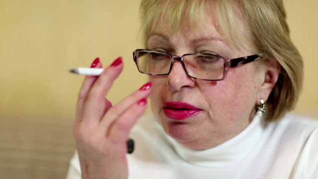 Woman with a cigarette video