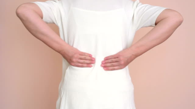 Woman with backache video