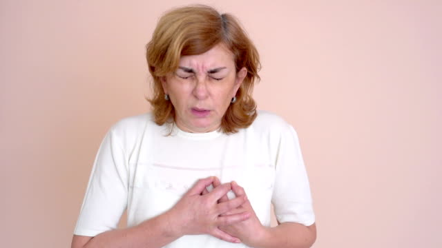 Woman with heart attack video