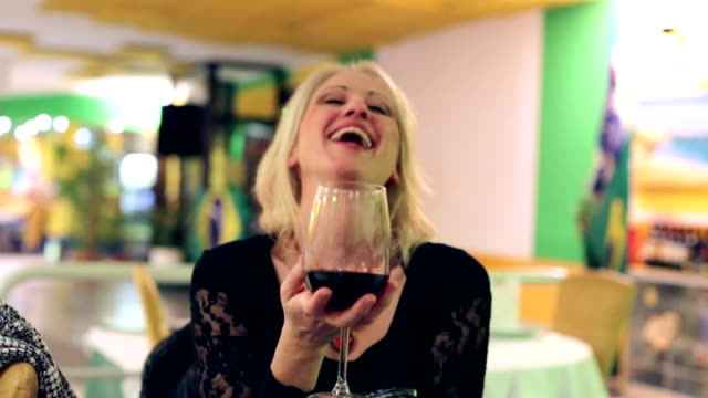 woman with red wine video