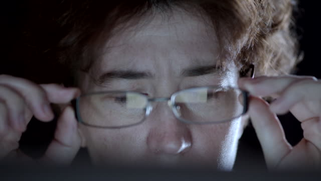 Woman working at the laptop video