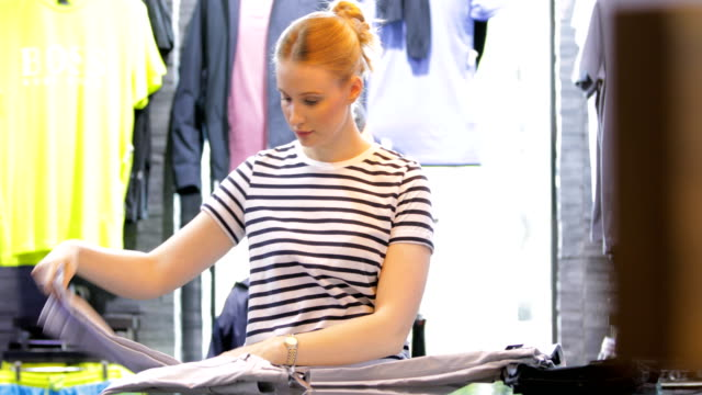 Woman Working in Retail video