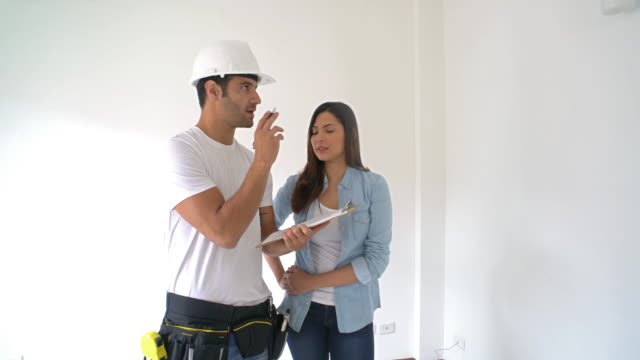 Woman working on a housing project video