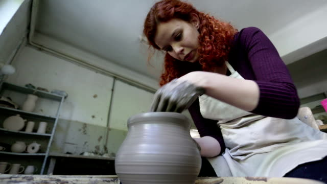Woman Working Potters video