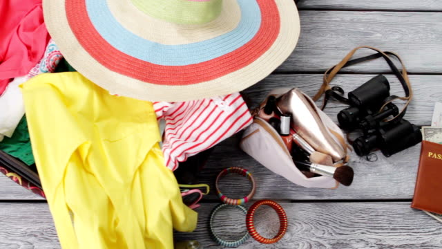 Woman's baggage and accessories. video