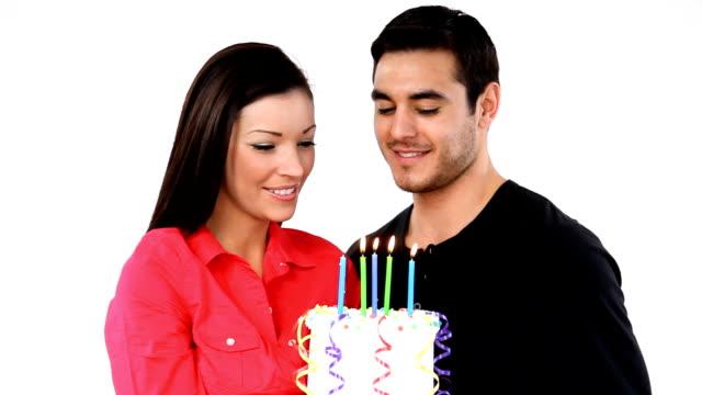 Femme de gâteau d'anniversaire - Vidéo