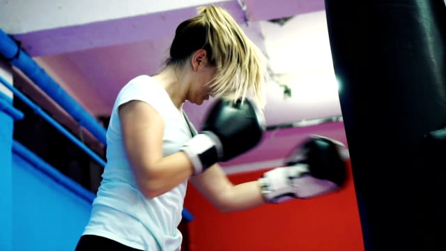 Woman's boxing training video