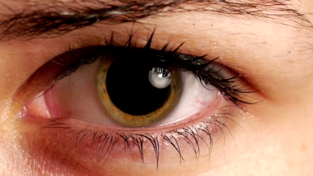 stockvideo's en b-roll-footage met womans dilated pupil - menselijk oog