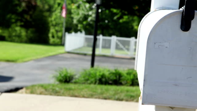 Woman's Hand Retrieving Mail From Mailbox video