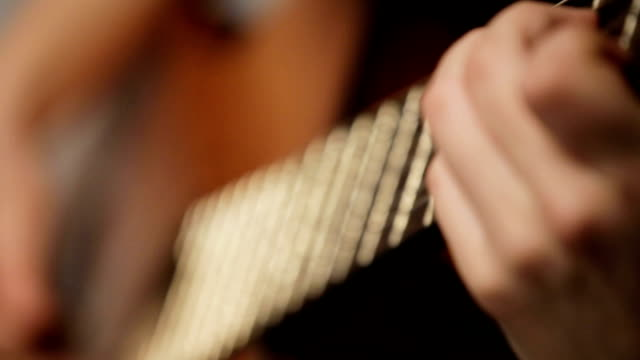 woman's hands playing acoustic guitar - classical architecture stock videos & royalty-free footage