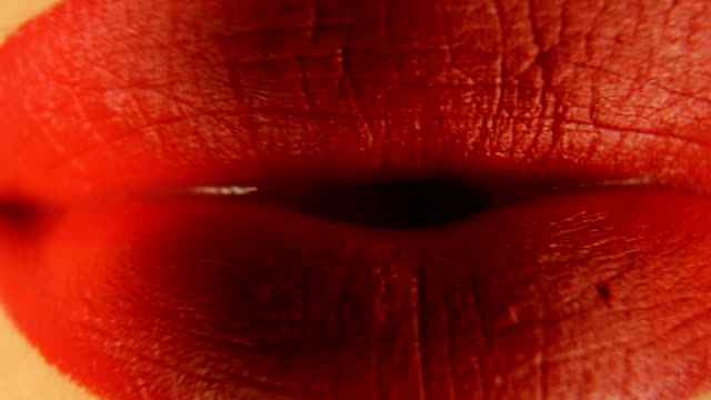 Woman's lips with red lipstick Woman's lips with red lipstick red lipstick stock videos & royalty-free footage