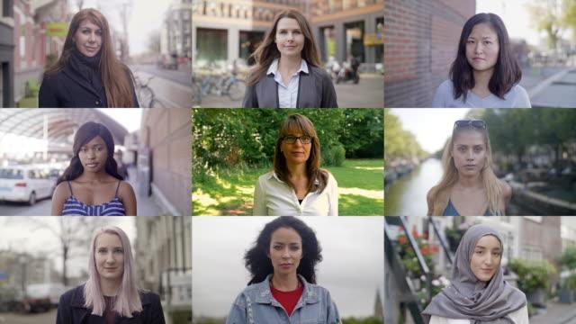 vídeos de stock e filmes b-roll de women around the world - clip art