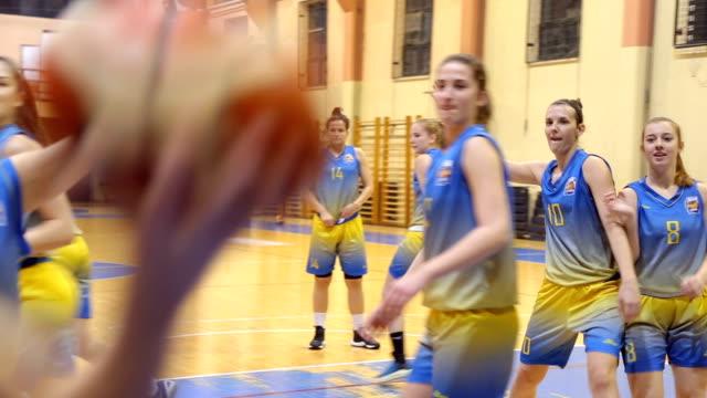 Women basketball game video