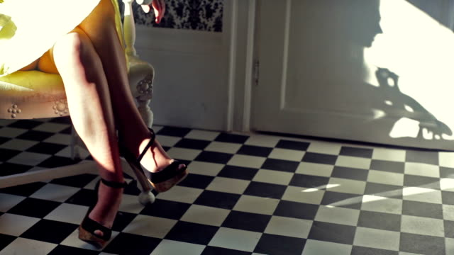 women, chair and shadow video