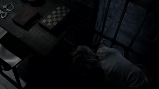 Women cleaning floor in prison video
