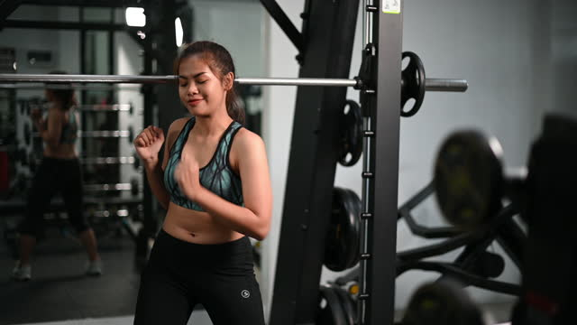 Women doing exercise and dancing