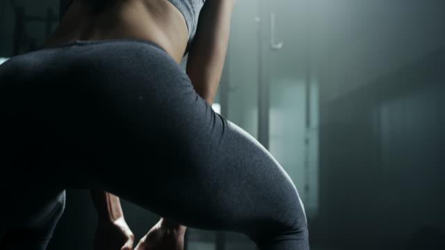 Women doing exercise with kettlebell video