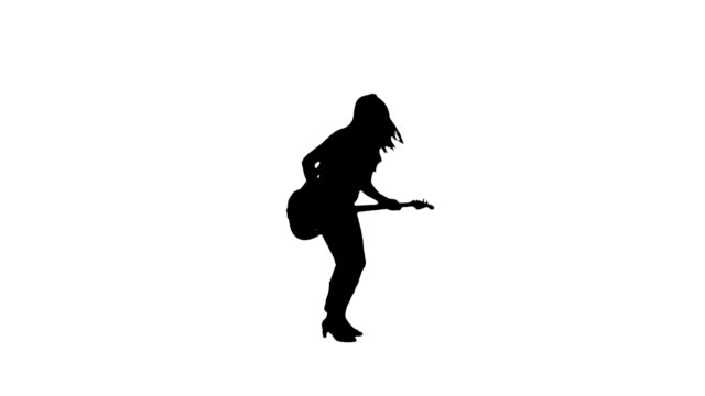 kvinnor gitarrist siluett - gitarrist bildbanksvideor och videomaterial från bakom kulisserna