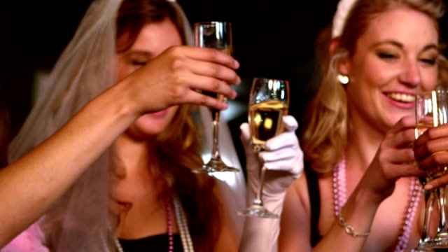 women having a bachelorette party - bachelorette party stock videos and b-roll footage