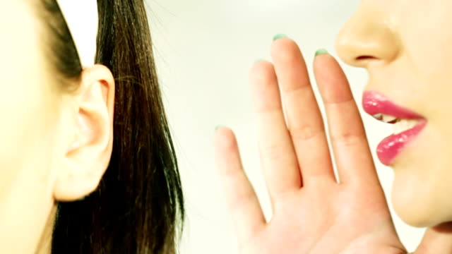 women said, woman listening to gossip