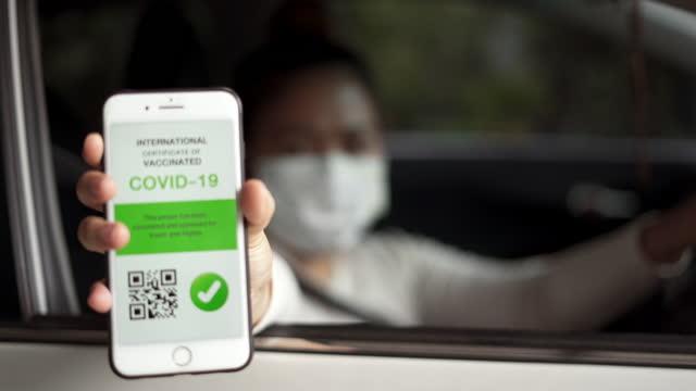 Women show Digital Vaccine Passport video