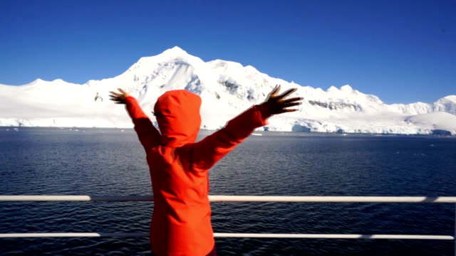 women take pictures on an antarctic ship - antarctica travel stock videos & royalty-free footage