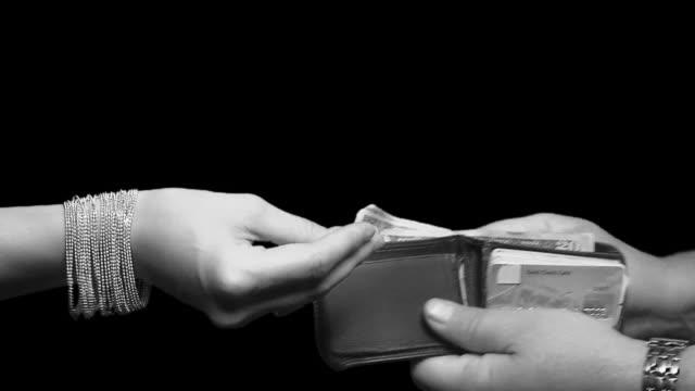 Women Taking Money video