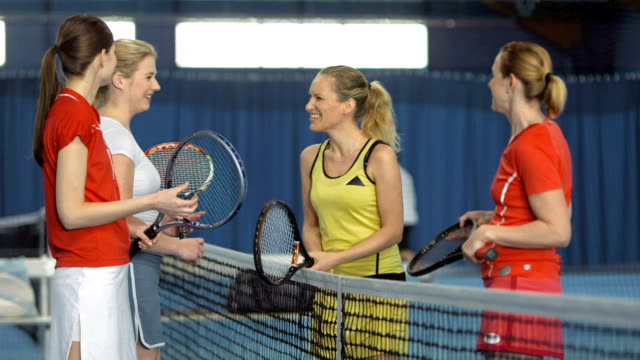 MS Women Talking After Playing Tennis Double video