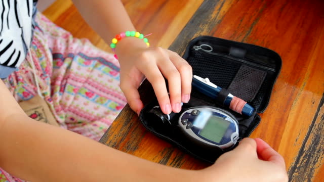 Women Testing Blood Sugar video