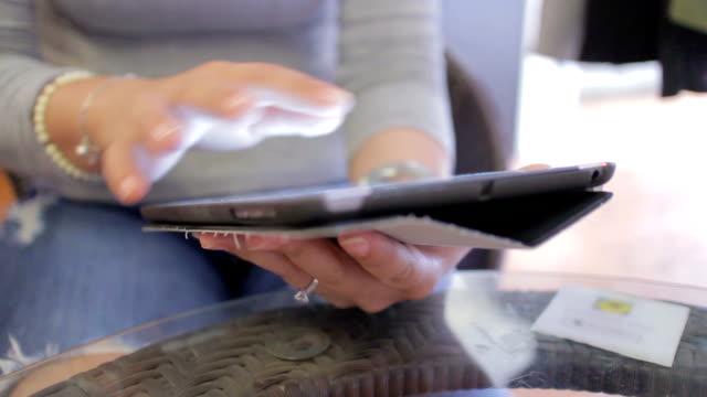 Women using digital tablet,Dolly Shot video