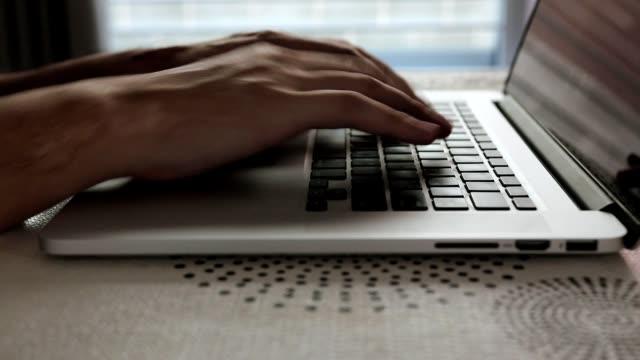 Women using finger typing on keyboard laptop computer on table. Women using finger typing on keyboard laptop computer on table. password stock videos & royalty-free footage