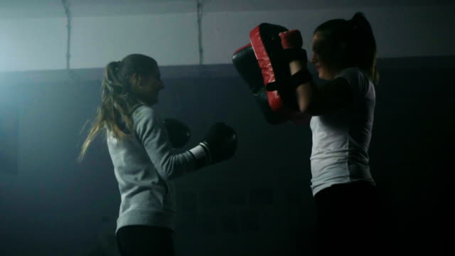 frauen boxen training - boxen sport stock-videos und b-roll-filmmaterial