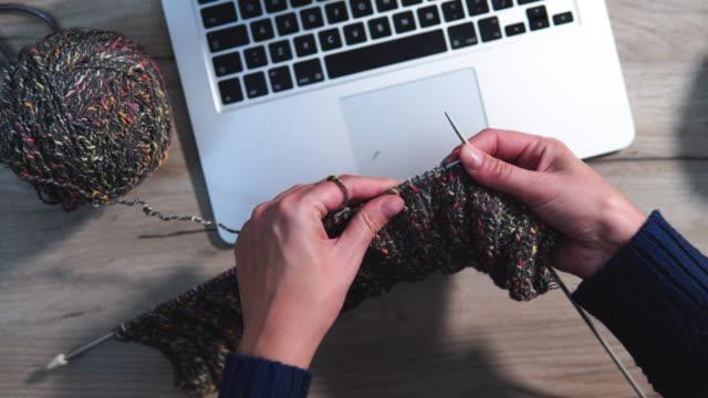 Women's hobby. Crochet and knitting. E-learning