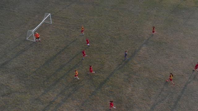 Women's Soccer Team Training On Soccer Field