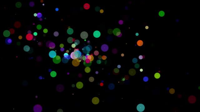 Wonderful animation with bubbles in slow motion, loop HD video