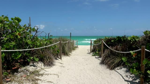 wunderschönen strand in der karibik - spring break stock-videos und b-roll-filmmaterial