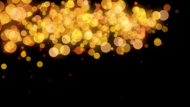 Wonderful christmas animation with moving stars and lights and bubbles, loop HD video
