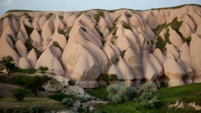 Wonderful landscape of Cappadocia in Turkey, pan video