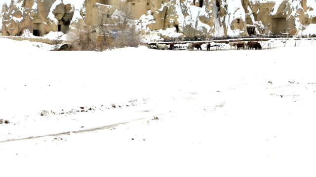 türkiye'de kapadokya'nın muhteşem manzara - fallus şeklinde stok videoları ve detay görüntü çekimi