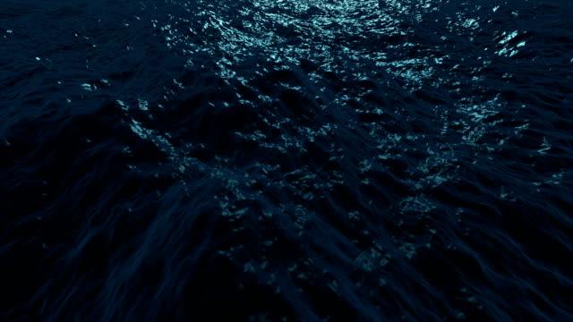 Wonderful ocean waves animation, loop HD 1080p video