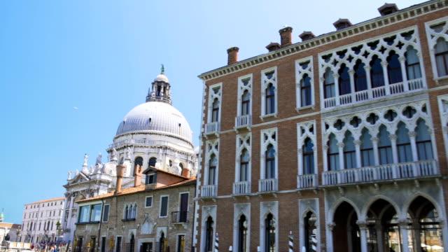 Wonderful view of Santa Maria della Salute church on Grand Canal, Venice tour video