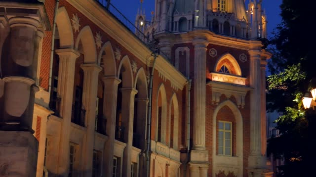 Wonderful view of the Grand palace in Tsaritsyno. video
