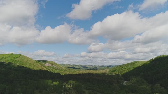 a wonderful view of the sky and mountains. wonderful natural landscape. - quadcopter filmów i materiałów b-roll