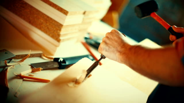 Wood carving. video