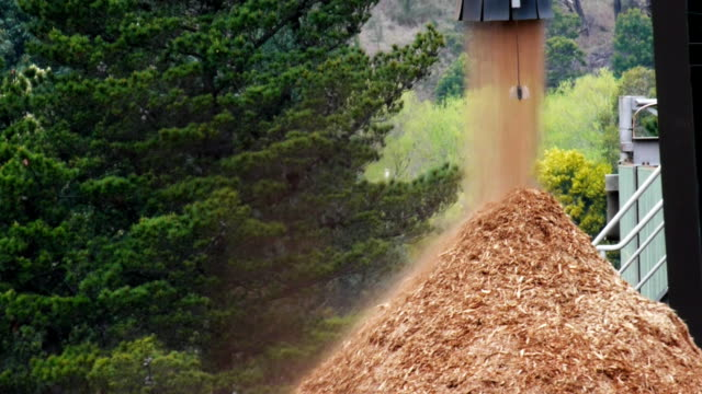 wood chip stockpile a pile of wood chips timber stock videos & royalty-free footage
